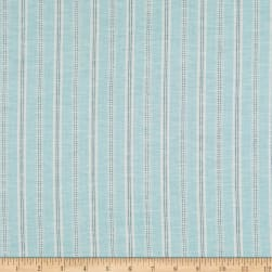 Stripe Linen Aqua Fabric