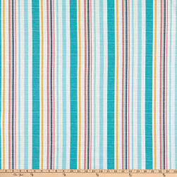 Linen Look Cotton Shirting Stripe Turquoise