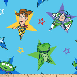 Disney Toy Story 4 Fleece Character Stars Multi Fabric