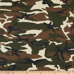 Cotton Broadcloth Camouflage