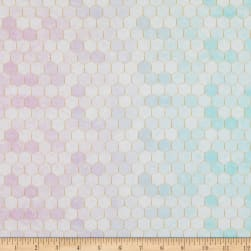Hoffman Digital Backsplash 2.0 Ombre Hexies Pastel Fabric