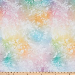 Hoffman Digital Floral Wonder Overlay Watercolor Pastel Fabric