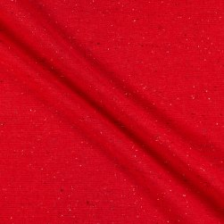 Kaufman Solid Essex Speckle Yarn Dyed Red Fabric