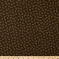 Abby's Treasures Squares Brown Fabric