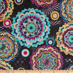 Fabtrends Crochet Lace Kaleidoscope Geo Multi Fabric