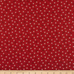 Maywood Studio Ruby Dotted Shirting Red/Brown