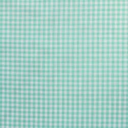 Gingham Check Bolt, 20 Yds Mint/White