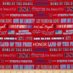 Henry Glass American Truckers Patriotic Phrases Red