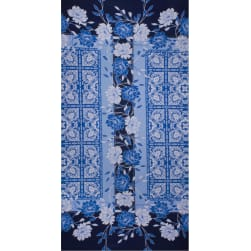 Fabtrends Ity Ethnic Floral Denim Fabric