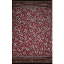 Fabtrends Ity Double Border Paisley Light Rust Gold Fabric