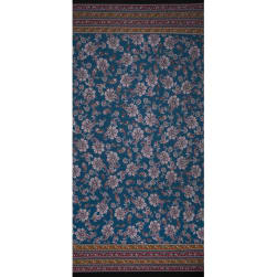 Fabtrends Ity Double Border Paisley Light  Teal Wine Fabric