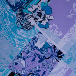 Fabtrends Ity Floral Patchwork Denim Fabric