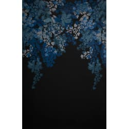 Fabtrends Ity Single Border Floral Denim Fabric