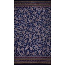 Fabtrends Ity Double Border Paisley Light Navy Wine Fabric