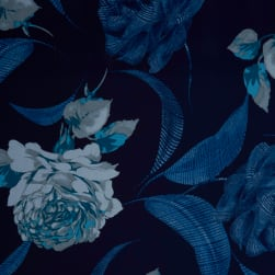 Fabtrends Ity Floral Denim Fabric