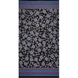 Fabtrends Ity Double Border Paisley Black Bright Fabric