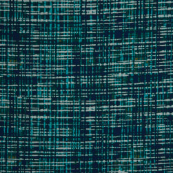 Fabtrends Washer Ghost Abstract Plaid Jade