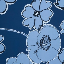 Fabtrends Ity With Puff Floral Denim Fabric