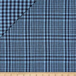 Double Face Jesse Yarn Dyed Woven Plaid Black/Blue