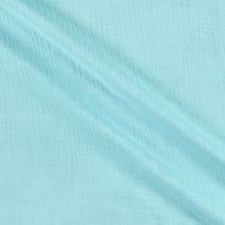 Cotton Double Gauze Aqua Fabric