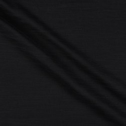 Cotton Double Gauze Slub Black Fabric