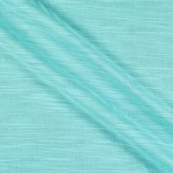Cotton Double Gauze Slub Aqua Fabric