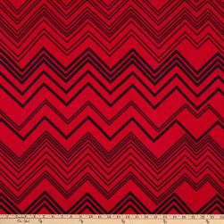 ITY Stretch Knit Chevron Red/Black
