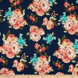 ITY Stretch Knit Floral Blue/Pink/Green