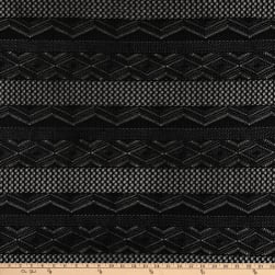 Crochet Lace Knit Diamonds Black Fabric