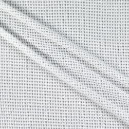 Fabric Merchants Stretch Waffle Knit Solid White