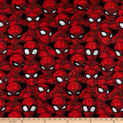 Marvel Spiderman Spider Sense Fleece Multi Fabric