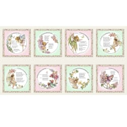 Michael Miller Songs of the Flower Fairies Flower Fairy Patch 24'' Panel Cream Fabric