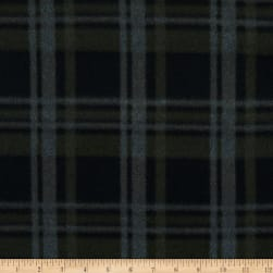 Fabric Merchants Polar Fleece Plaid Green/Charcoal