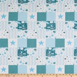 Flannel Baby Patch Blue  Fabric