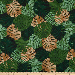 Trans-Pacific Textiles Monstera Palm Shadow Green