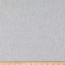Telio Piper Linen Cotton Blend Yarn Dyed Houndstooth Grey Fabric