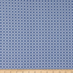 Fabric Merchants Double Brushed Stretch Jersey Knit Connecting Rings Blue/White