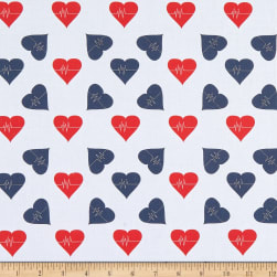 Cotton Tossed Heartbeat Red