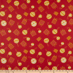 Cotton Print Presents Red