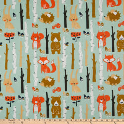 Cotton Print Forest Green