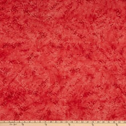 Maywood Studio Color Therapy Batiks New Scroll Red Fabric