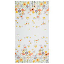Susybee Sweet Bees Double Border White Fabric