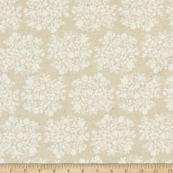 Kaufman Sevenberry Cotton Flax Prints Small Flowers Natural Fabric
