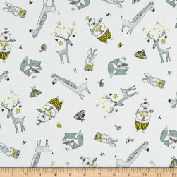 Michael Miller Whimsicals Cute Critters White