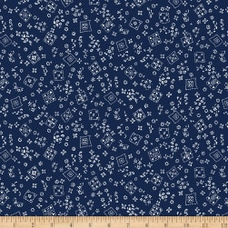 Michael Miller Country Rodeo Tossed Bandana Navy  Fabric