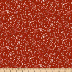 Michael Miller Country Rodeo Tossed Bandana Red  Fabric