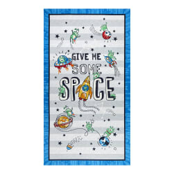 Michael Miller Space Oddity Give Me Some Space 24'' Panel Multi Fabric