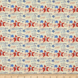 Super Sports Basketball Star Text Red/Blue/White Fabric