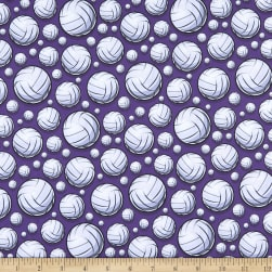 Super Sports Flying Volleyball Purple Fabric