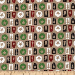 Christmas Novelty Brown Paper Gift Tags Brown Fabric